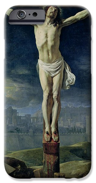 Calvary iPhone Cases - Christ on the Cross iPhone Case by Philippe de Champaigne