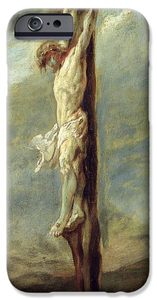 Rubens iPhone Cases - Christ on the Cross iPhone Case by Rubens