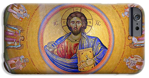 Christ In Majesty iPhone Cases - Christ Pantocrator -- No.4 iPhone Case by Stephen Stookey