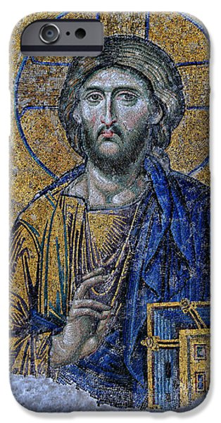 Christ In Majesty iPhone Cases - Christ Pantocrator -- Hagia Sophia iPhone Case by Stephen Stookey