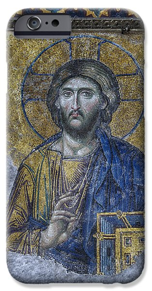 Christ In Majesty iPhone Cases - Christ Pantocrator III iPhone Case by Stephen Stookey