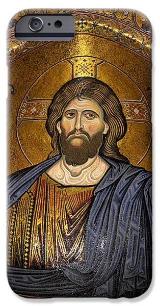 Christ Pantocrator mosaic iPhone Case by RicardMN Photography