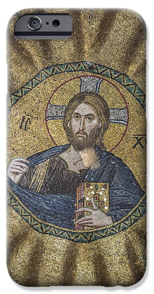 Genealogy iPhone Cases - Christ Pantocrator surrounded by the prophets of the Old Testament 2 iPhone Case by Ayhan Altun