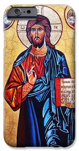 Christ the Pantocrator iPhone Case by Ryszard Sleczka