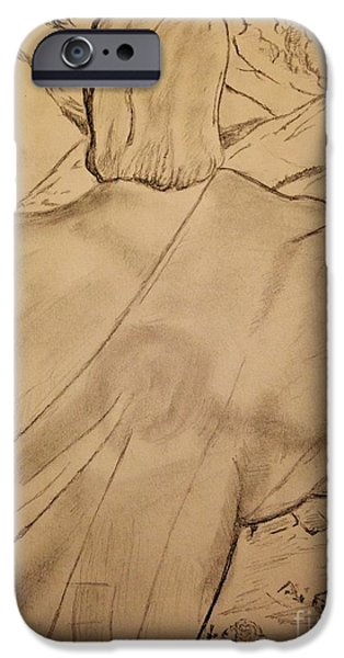 Religious Drawings iPhone Cases - Christ the Redeemer  iPhone Case by Navroz  Raje