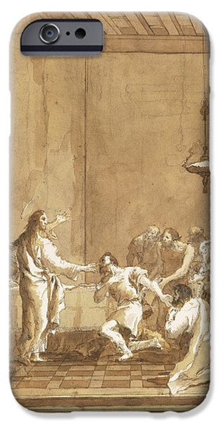 Warn In iPhone Cases - Christ Warns St. Peter In The Upper Room iPhone Case by Celestial Images