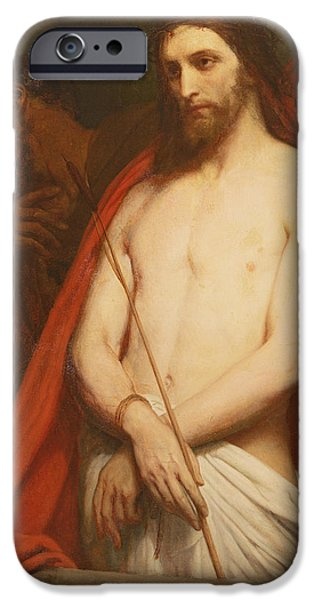 Jesus Photographs iPhone Cases - Christ With The Reed Oil On Canvas iPhone Case by Ary Scheffer