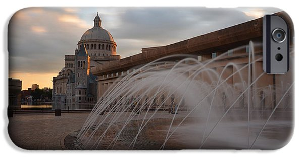 Oxford. Oxford Ma. Massachusetts iPhone Cases - Christian Science Church Boston iPhone Case by Toby McGuire