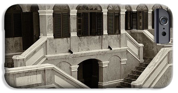 Historic Site iPhone Cases - Christiansted National Historic Fort Sepia iPhone Case by Iris Richardson