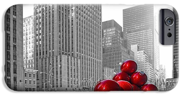 Christmas Greeting iPhone Cases - Christimas in Rockeeller Center iPhone Case by Geraldine Scull