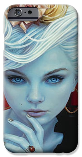 Angel Blues iPhone Cases - Christina the Astonishing iPhone Case by Vic Lee