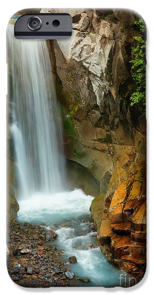 Drama iPhone Cases - Christine Falls iPhone Case by Inge Johnsson