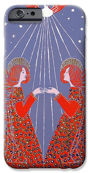 Angel. Spiritual iPhone Cases - Christmas 77 iPhone Case by Gillian Lawson