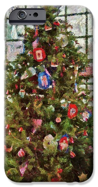 Wintertime iPhone Cases - Christmas - An American Christmas iPhone Case by Mike Savad
