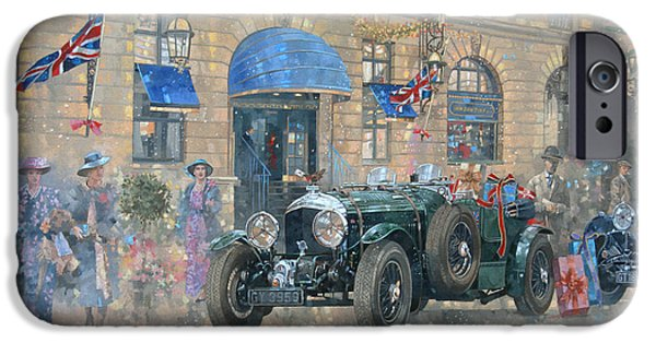 Christmas Eve iPhone Cases - Christmas at the Ritz iPhone Case by Peter Miller