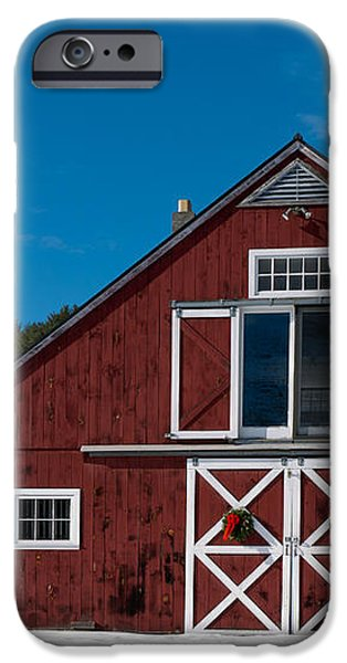 Christmas Barn iPhone Case by Edward Fielding