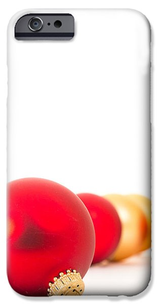 Christmas iPhone Cases - Christmas Baubles iPhone Case by Edward Fielding