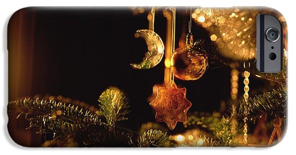 Baubles iPhone Cases - Christmas Baubles iPhone Case by Robert Hallmann