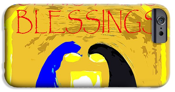 Miracle iPhone Cases - Christmas Blessings 4 iPhone Case by Patrick J Murphy