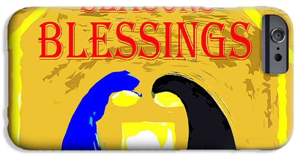 Miracle iPhone Cases - Christmas Blessings 5 iPhone Case by Patrick J Murphy