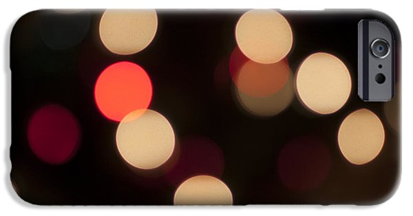 Celebrated iPhone Cases - Christmas Bokeh Lights iPhone Case by Juli Scalzi