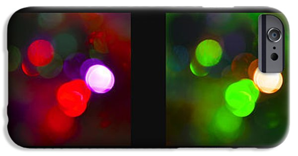 Michelle iPhone Cases - Christmas Bokeh Panel iPhone Case by Michelle Orai