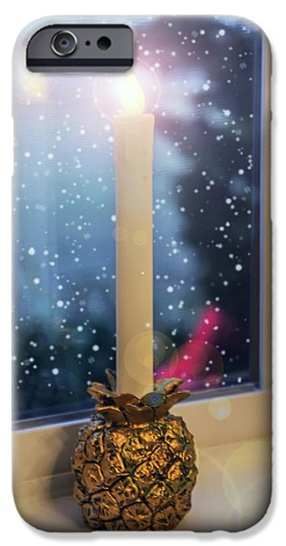 Christmas Candle iPhone Case by Brian Wallace