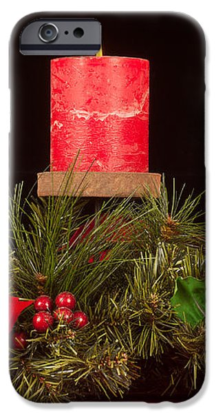 Christmas candle trio iPhone Case by Kenneth Sponsler