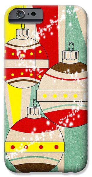 Animation iPhone Cases - Christmas Card 6 iPhone Case by Mark Ashkenazi
