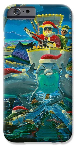 Christmas Greeting iPhone Cases - Christmas card iPhone Case by Carey Chen