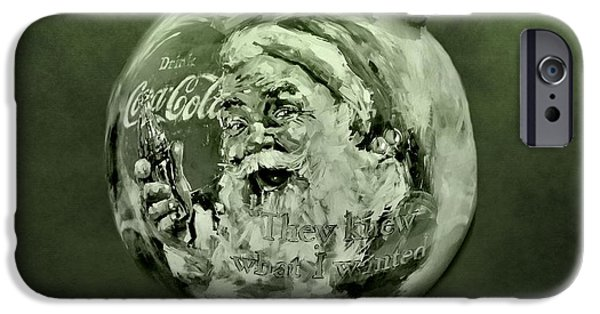 Celebrate Mixed Media iPhone Cases - Christmas Coca Cola iPhone Case by Dan Sproul