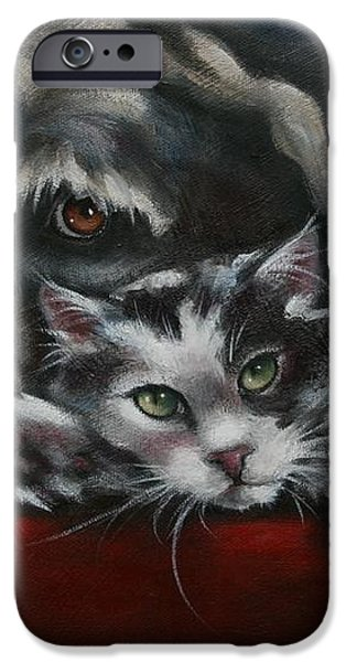 Christmas Companions iPhone Case by Cynthia House