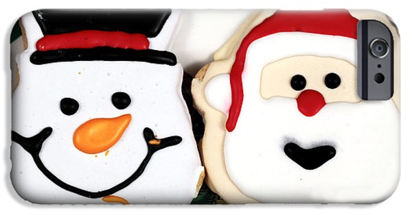 Christmas Greeting iPhone Cases - Christmas Cookies iPhone Case by John Rizzuto