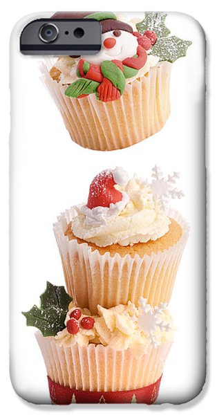 Christmas iPhone Cases - Christmas Cupcake Tower iPhone Case by Amanda And Christopher Elwell