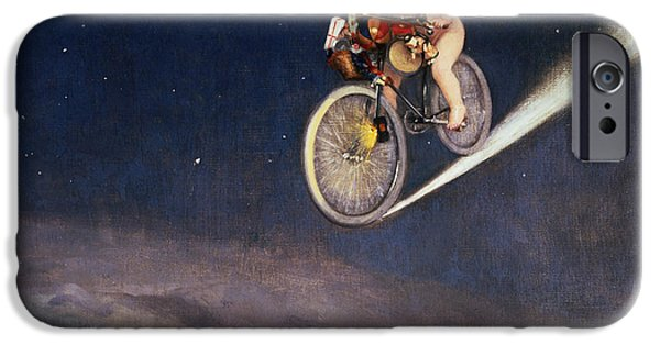 Bicycles iPhone Cases - Christmas Delivery iPhone Case by Jose Frappa