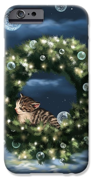Ipad iPhone Cases - Christmas dream iPhone Case by Veronica Minozzi
