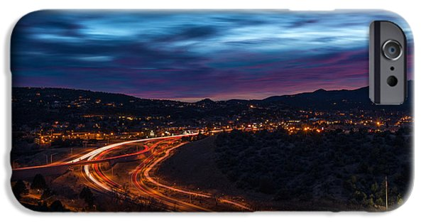 Prescott iPhone Cases - Christmas Eve Dusk iPhone Case by Theresa Ditson