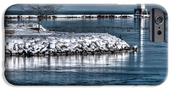 Christmas Eve iPhone Cases - Christmas Eve Harbor iPhone Case by Jeffrey Ewig