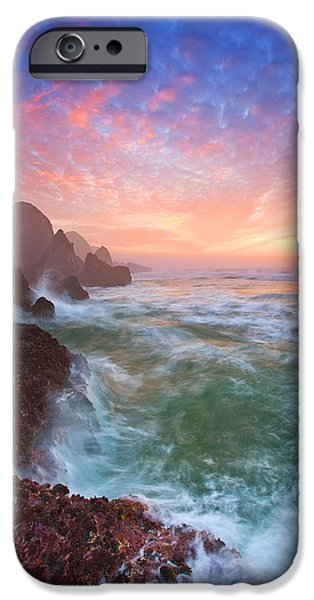Oregon iPhone Cases - Christmas Eve Sunset iPhone Case by Darren  White