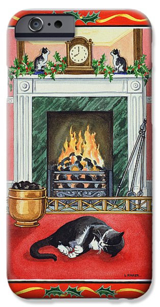 Grate iPhone Cases - Christmas Fire iPhone Case by Lavinia Hamer