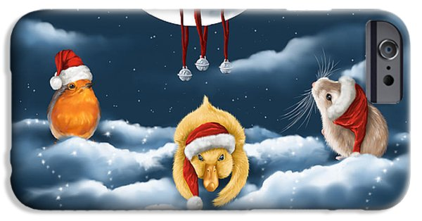 White Christmas iPhone Cases - Christmas games iPhone Case by Veronica Minozzi