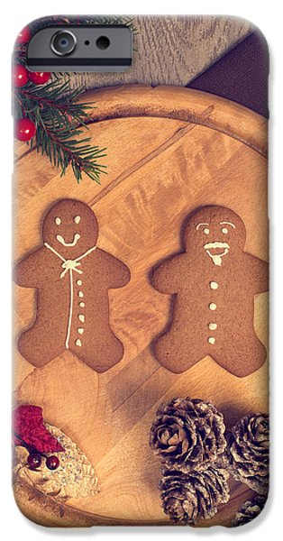 Berry iPhone Cases - Christmas Gingerbread iPhone Case by Amanda And Christopher Elwell