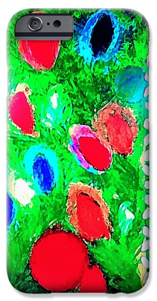 Christmas Pastels iPhone Cases - Christmas Glow iPhone Case by Renee Michelle Wenker