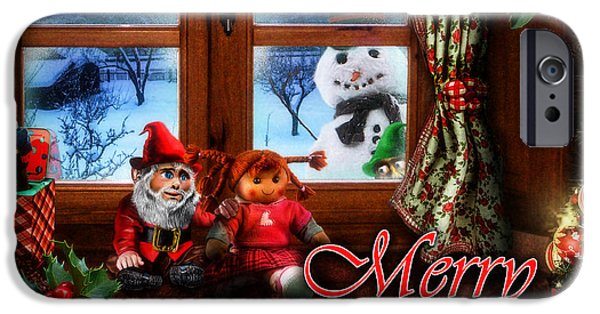 Rag Doll iPhone Cases - Christmas greeting card VI iPhone Case by Alessandro Della Pietra