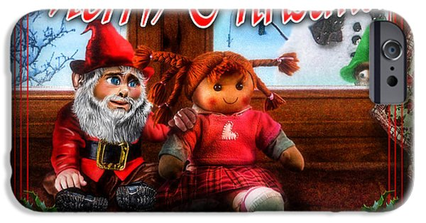 Rag Doll iPhone Cases - Christmas greeting card VII iPhone Case by Alessandro Della Pietra