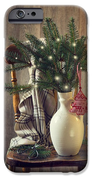 Celebration Photographs iPhone Cases - Christmas Holiday Chair iPhone Case by Amanda And Christopher Elwell