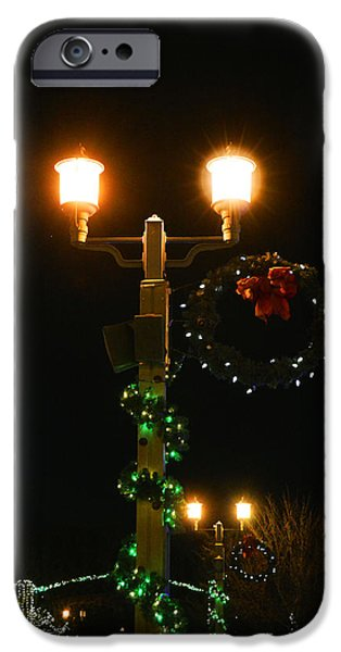 Old Town Temecula iPhone Cases - Christmas in Old Town Temecula 2 iPhone Case by Tommy Anderson