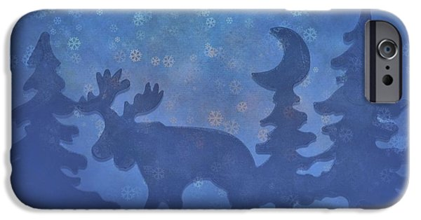 Christmas Eve iPhone Cases - Christmas In The Forest iPhone Case by Dan Sproul