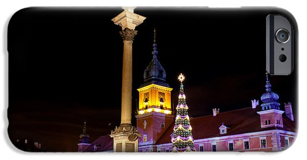 Polish Culture iPhone Cases - Christmas in Warsaw iPhone Case by Artur Bogacki