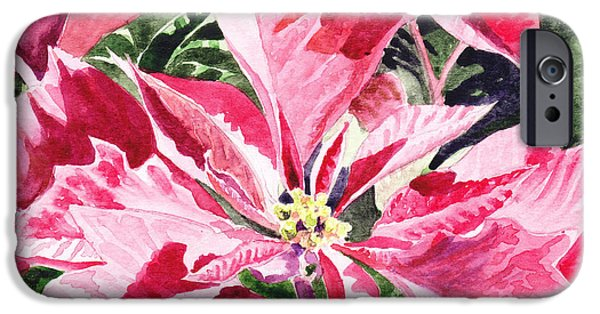Pinkish iPhone Cases - Christmas iPhone Case by Irina Sztukowski
